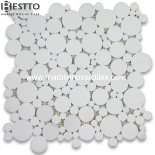Thassos White Bubble Round  Mosaic Suppliers