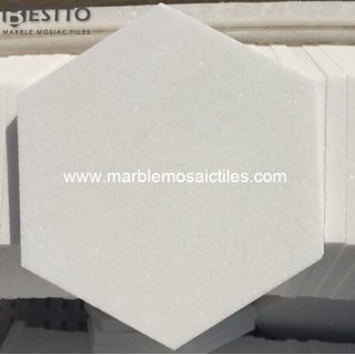 top Thassos White Hexagon Tiles online