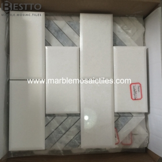 Thassos white Subway mosaic Tile Suppliers