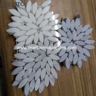 Thassos White Leaves Mosaic Tiles Suppliers