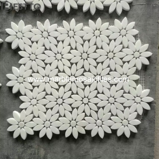 Thassos white Flower Mosaics Suppliers