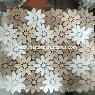 Marble mixed Flower Mosaics Suppliers