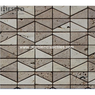 Dark beige travertine Mosaic Tile