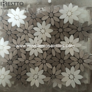 White wood Flower Mosaics Suppliers