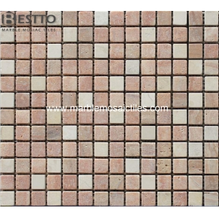 Red Travertine Mosaic Tiles Online