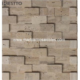 3D Travertine Mosaic Tiles Online