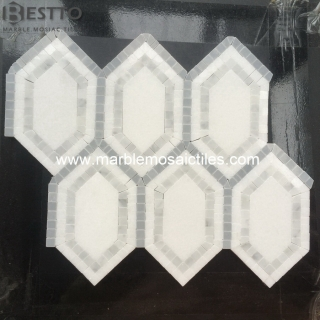Carrara Hexagonal Mosaic Tile