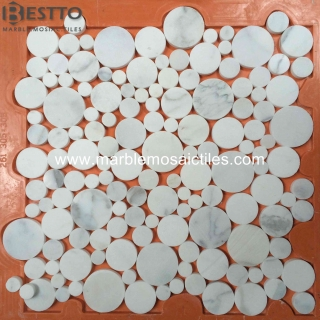 Calacatta Penny Round Mosaic Tile Online