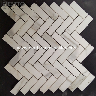 Calacatta Herringbone Mosaic Tile Suppliers