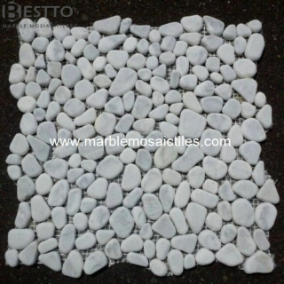 White Carrara Crazy mix tumbled