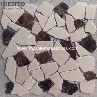 Dark Emperador Crazy Mix Mosaic Tile Suppliers