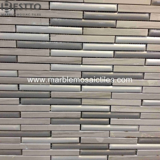 Athen Wood Blend Porcelain Strips Mosaic Suppliers