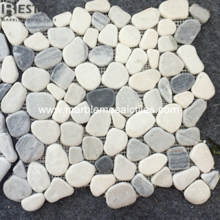 Marble Crazy mix tumbled mosaic tile
