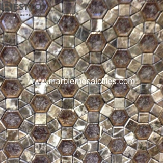 Dark Emperador Blend Porcelain Mosaic Suppliers