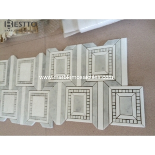 Thassos White and Carrara Grey Mosaic Tile Suppliers