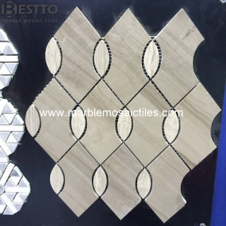 Athen Wood and White Wood Mosaic Tile Suppliers