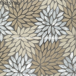 Marble Blend Shell Mosaic Tiles