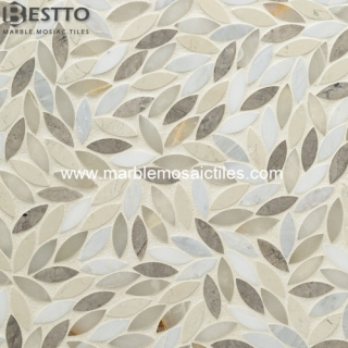 Marble mixed flower Mosaic Tiles Suppliers