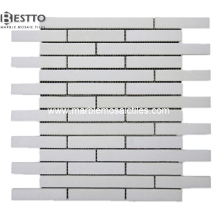 top White Thassos Linar  Mosaic online