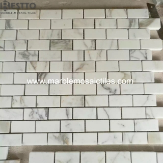Calacatta Gold Bricks Mosaic tile Online
