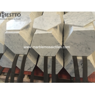 White Carrara Hexagon Tile