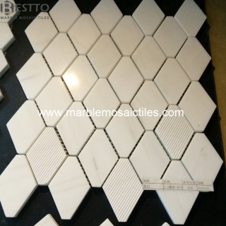 Bianco Dolomiti Octagon Mosaic Tiles Suppliers