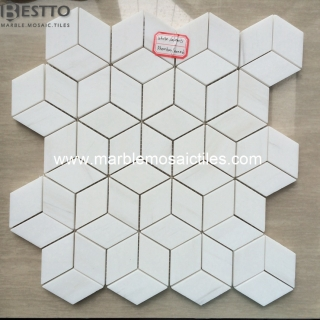 Bianco Dolomiti Diamond Mosaic Tiles Online