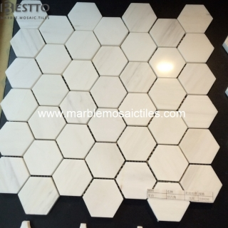 Bianco Dolomiti Hexagon Mosaic Tiles Online