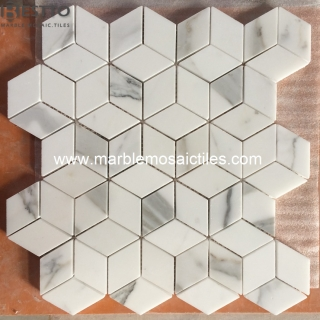 Calacatta Rhombus Mosaic Tiles Suppliers