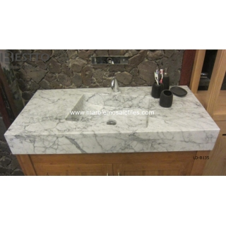 Bianco Carrara Marble basin Suppliers