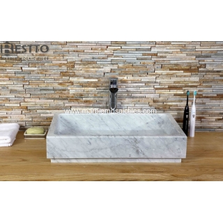 White Carrara Marble bathroom basin Suppliers