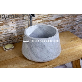 Top Quality White Carrara Basin