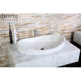 White Carrara Vanity top Suppliers