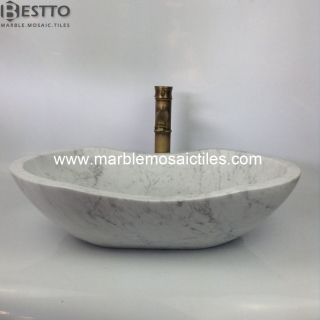 white carrara marble bathroom basins Suppliers