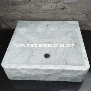 Italy White Carrara Stone Basin Suppliers