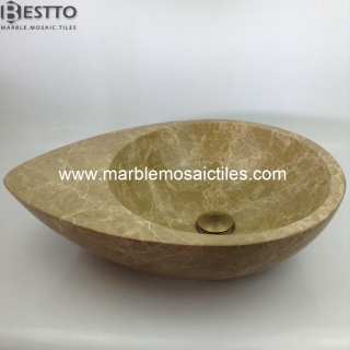 Light Emperador Marble Basin Suppliers