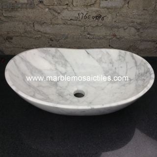 White Carrara Marble Basin Suppliers