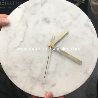 White Carrara Clocks Suppliers