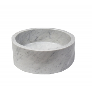 White Carrara Round Basins Suppliers