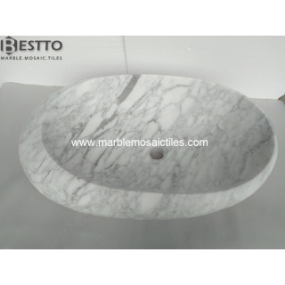 White Carrara Basins Suppliers