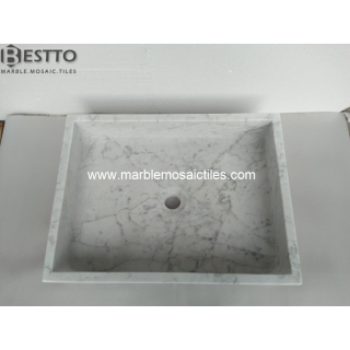 White Carrara Rectangle Basin Suppliers
