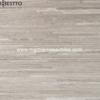 White wood marble Bamboo mosaic tiles Suppliers