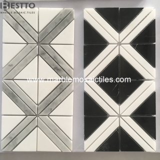 Top Quality White Grey Black Marble Mosaic tiles