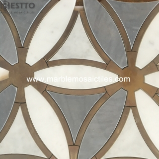 Carrara white, Bardiglio Grey and brass metal Suppliers